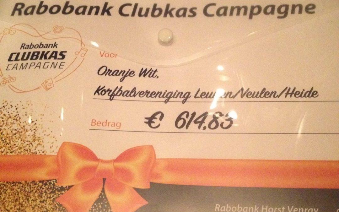 Geweldige opbrengst Rabobank Clubkas Campagne!