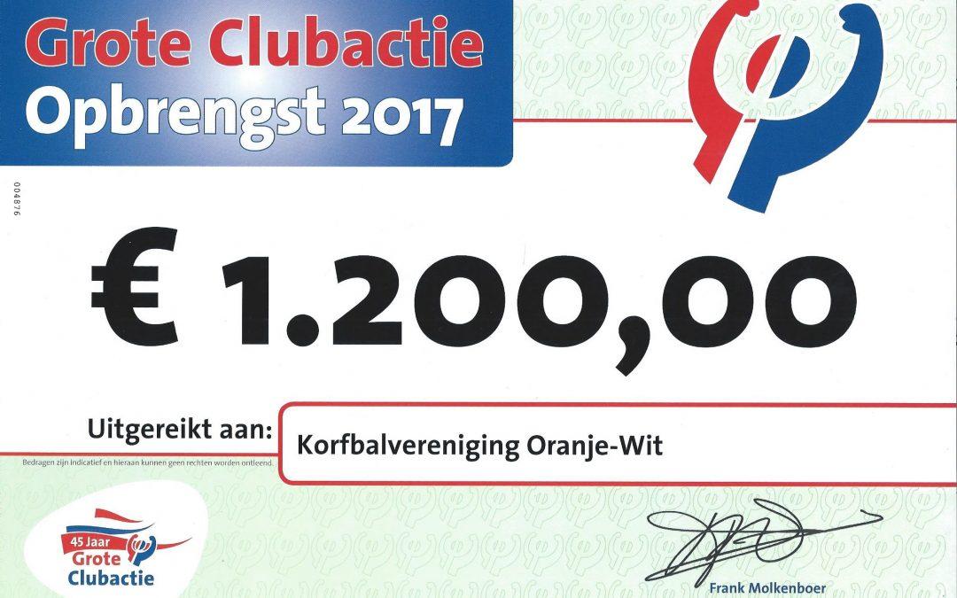 Mooie opbrengst Grote Clubactie voor KV Oranje-Wit!
